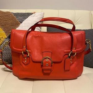 Coach Eva Flap Satchel - Orange